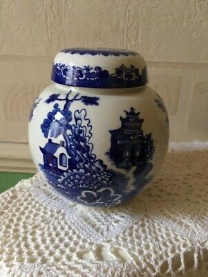 """Vintage Burgess & Leigh """"Willow"""" Ginger Jar for Twining & Co"""