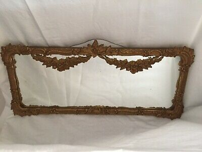 Vintage plaster and timber mirror antique gold baroque