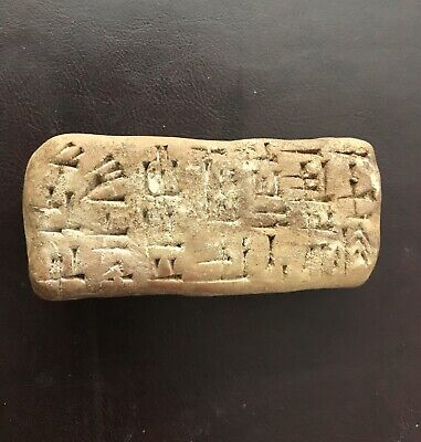 VERY RARE CIRCA 2500-1000 Bc, NEAR EAST TERRACOTTA TAMPLET WITH EARLY WRITINGS..