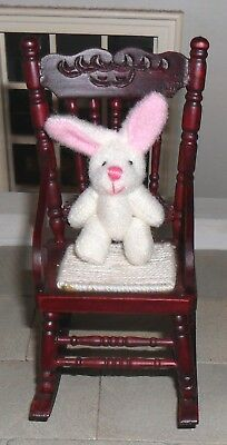 Dolls' House 1/12Th Scale White Rabbit With Pink Ears
