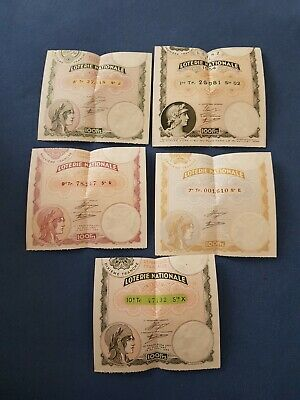 LOT BILLET DE LA LOTERIE NATIONALE 3ème TRANCHE 1934 100 FRANCS
