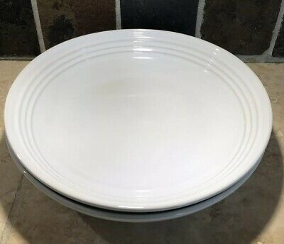 """White"" Set of 2 LE CREUSET Large 9.75"" Pasta Bowls Stoneware NWT Dinnerware"