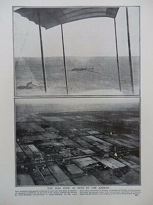 1915 The War Zone As Seen By The Airman Rfc Rnas Royal Flying Corps Wwi Ww1