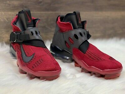 NEW Nike Air Vapormax Premier Flyknit Mens Size 9.5 Team Red Black AO3241-600