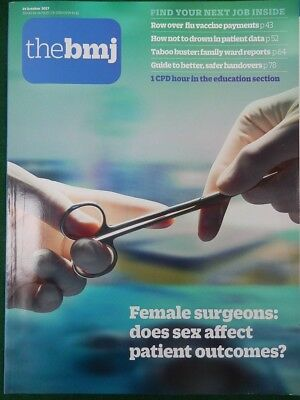 Bmj British Medical Journal 14 October 2017 Do Female Surgeons Affect Outcomes?