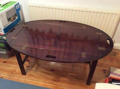 Mahogany Butlers Tray Top Coffee Table