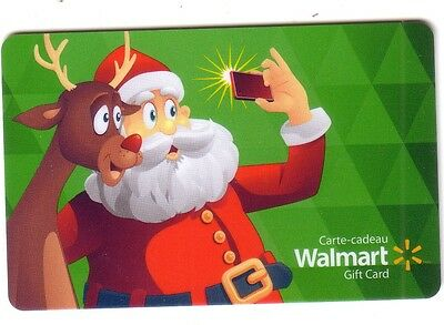 Walmart SANTA CLAUSE SELFIE Limited Ed COLLECTIBLE Gift Card New No Value