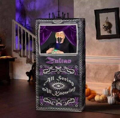 Life Size ZULTAN ANIMATED FORTUNE TELLER ARCADE Halloween Prop New