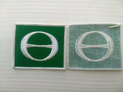 VINTAGE 1970's ECOLOGY E FLAG PATCH HIPPIE PROTEST ENVIRONMENTAL GLOBAL WARMING