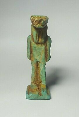 Egyptian Steatite Stone Carved Sekhmet Amulet