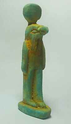 Egyptian Steatite Stone Carved Horus Amulet