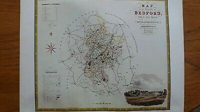Detailed Map Of Bedfordshire By C & J Greenwood, 1825-31 (102)