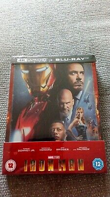 Iron Man Zavvi Exclusive 4K UHD Limited Edition Blu-ray Steelbook