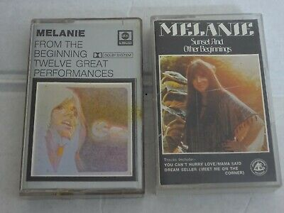 MELANIE - From The Beginning & Sunset And Other Beginnings - 2 x Cassette Albums