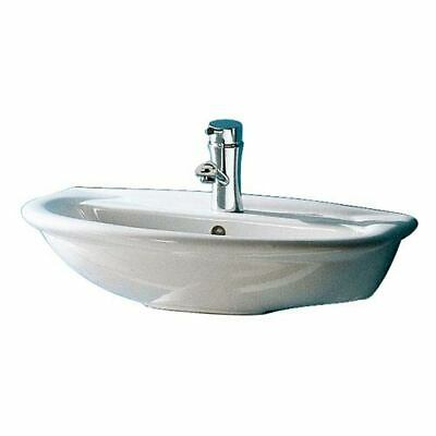 Barclay Products Karla White 450 Wall-Hung Basin with One Faucet Hole - 4-811WH