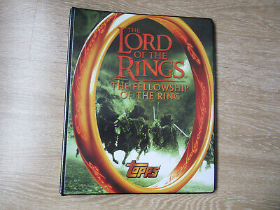 Lord of the Rings Fellowship Trading Card Binder & Base set complete 1-90