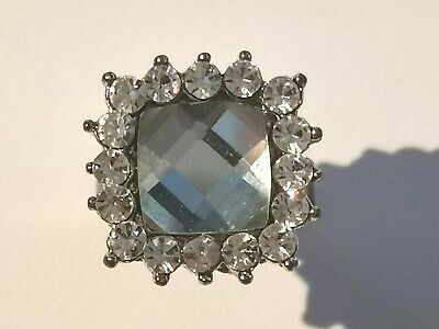 Pretty Silver Tone Halo Ring - Metal Detecting Find