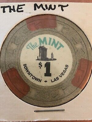 "Vintage ""The MINT"" $1 Dollar Rare Chip. Fear And Loathing In Las Vegas Hotel"