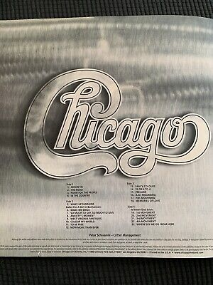 Chicago The Band Memoribilia Tour Book And Tshirts