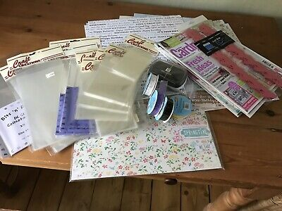 Craft room clearout job lot card paper cello bags and more