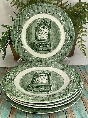 5 The Old Curiosity Shop Bread Butter Plates Green