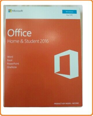 Factory Sealed Microsoft Office 2016 Home & Student 32/64bit PKC Box | No Disk