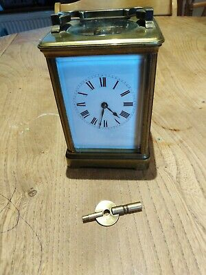 Antique Brass Carriage Clock - Working Order