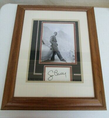 """Signed Autographed Sean Connery James Bond Framed Picture 22""""x18"""" Framed + Coa"""