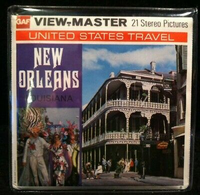 Vintage View-Master Reels Set ~ New Orleans Louisiana w/ Original Booklet