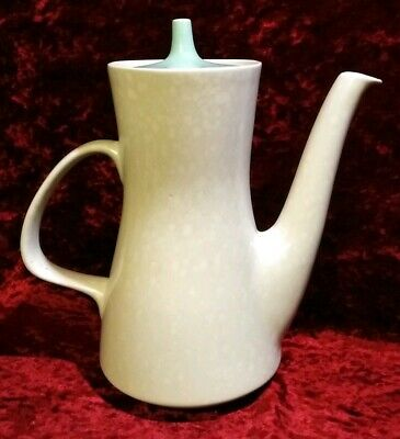 Vintage Poole Pottery Twin Tone Coffee Pot C57 Sea Gull and Ice Green