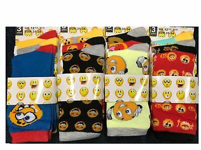 Kids Socks Emoji design Boys  Girls Socks 6 Pairs Everyday Ladies Socks