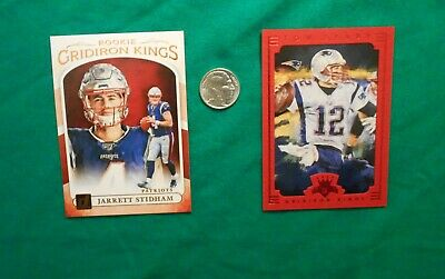 2019 Donruss Gridiron kings Jarrett Stidham RC, 2015 Tom Brady card & 1/10 Ag rd