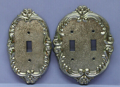 Lot of 2 EDMAR Victorian Toggle Light Switch Wall Plate Cover - Single & Double