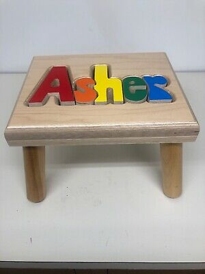 Groovy Personalized Michael Wooden Name Puzzle Step Stool Preschool Pdpeps Interior Chair Design Pdpepsorg