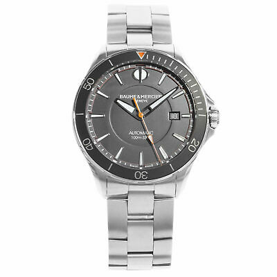 Baume et Mercier Clifton Men's Wristwatch with Black Dial MOA10412