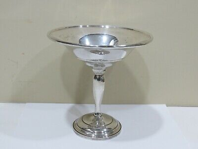 Vintage Antique Sterling Silver Weighted Base Candy Dish Bowl