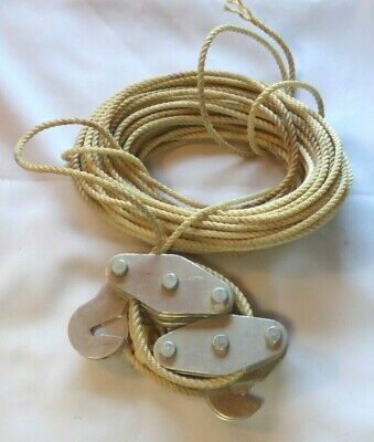 vintage OXWALL Block & Tackle Rope Pulley System aluminum Japan