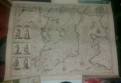 vintage the kingdom of ireland map Rare