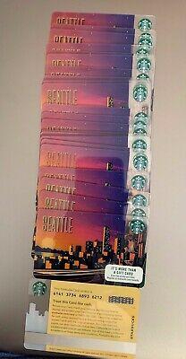 Lot Of 20 - 2017 Starbucks Seattle Gift Card #6141 No Value Mint