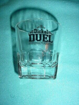 Vintage George Dickel VS Jack Daniels Duel sippin' whiskey double shot glass
