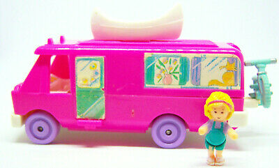 Vintage Polly Pocket Home on the Go complete set Bluebird Toys w dolls