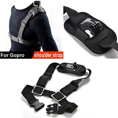 For Go Pro Shoulder Chest Strap Mount Harness Belt`Hero 3 3+ 4 session AccessSC