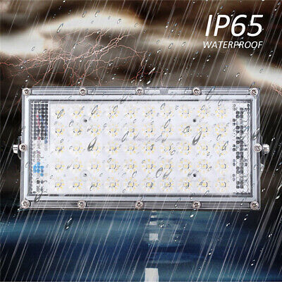 1/2X 50W LED Flood Light Spot Outdoor Lamp White Light Garden LandscapeSC