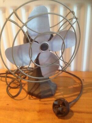 Vintage electric fan adjustable angle magic air in working order