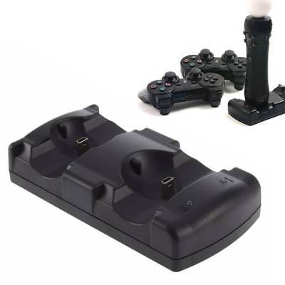 USB Dual Charging Powered Dock Charger to PlayStation Controller Move Hot