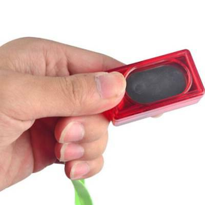 Dog Pet Click Clicker Training Obedience Agility Trainer Aid Wrist Strap Hot