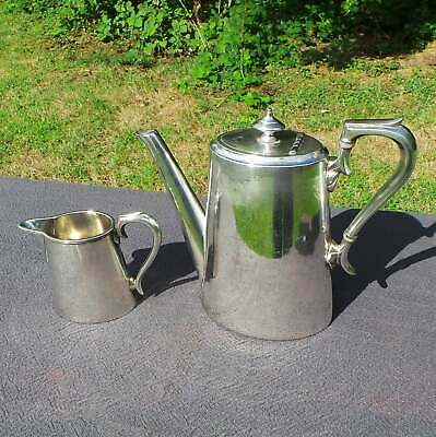 Coffee Pot and Milk Jug James Dixon and Sons Silver Plated Fittings Water Tight