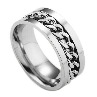 Fashion Silver Celtic Dragon Titanium Stainless Steel Men's Wedding Ring Sz10
