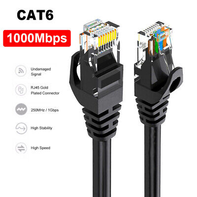 Speed RJ45 CAT6 LAN Cable Ethernet Cable Network Cord For Laptop PC Router