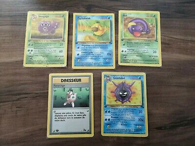 Lot de 5 cartes édition 1 fossil français carte pokémon wizards